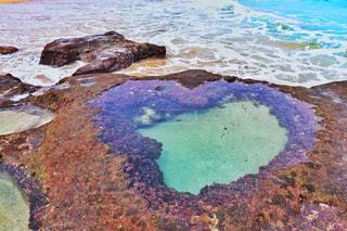自然,風景,海,屋外,鮮やか,ハート,岩,奄美大島,ハートロック,マーク,日中