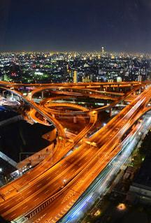 #大阪 #ジャンクション #夜景の写真・画像素材[374599]