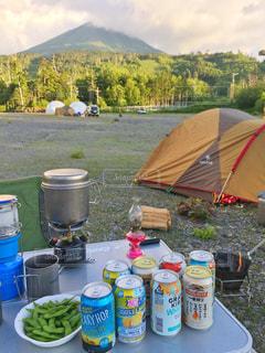 山でキャンプの写真・画像素材[1323602]