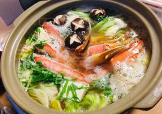 家族,冬,食事,野菜,年末,なべ,カニ鍋