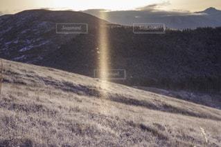 霧ヶ峰のサンピラーの写真・画像素材[1787513]