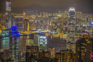 夏,夜,夜景,ネオン,アジア,光,ライトアップ,旅行,高層ビル,香港,100万ドルの夜景,夏休み,レジャー,海外旅行,連休,ヴィクトリアピーク