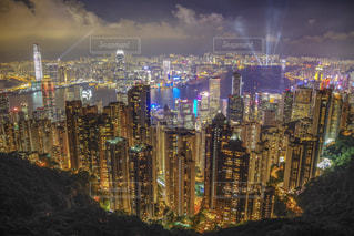海,夏,夜景,海外,ネオン,アジア,光,イルミネーション,旅行,高層ビル,香港,100万ドルの夜景,夏休み,レジャー,海外旅行,連休,散策,ヴィクトリアハーバー,ヴィクトリアピーク