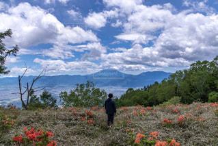ぼくと甘利山の写真・画像素材[2234392]