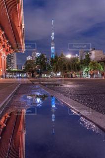 雨上がりふれくしょん・浅草の写真・画像素材[2245782]