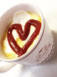 ランチ,ハート,マグカップ,ご飯,food,オムライス,lunch,♡,heart,ケチャップ,簡単,はーと,eat