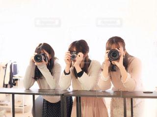 カメラ女子の写真・画像素材[1821506]
