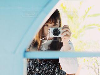 カメラ女子の写真・画像素材[1857986]