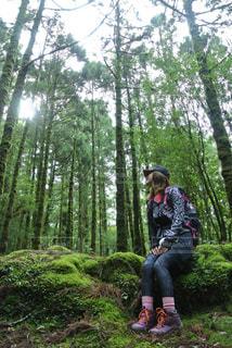 山ガールin屋久島の写真・画像素材[2251002]