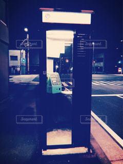 夜,屋外,電話,フィルム,野外,電話ボックス,公衆電話,フィルム写真,フィルムフォト