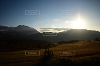 自然,風景,空,秋,屋外,太陽,草原,雲,山,光,草,樹木,高原