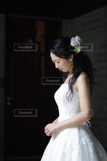 女性,30代,白,花嫁,ウエディング,新婦,軽井沢,ホワイト,ウエディングドレス