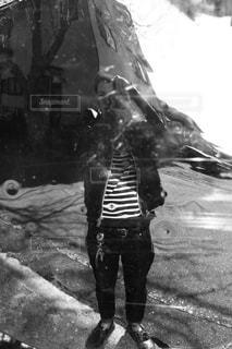 セルフポートレートの写真・画像素材[1828674]