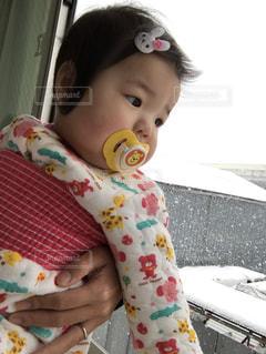 景色,赤ちゃん,新生児,初雪