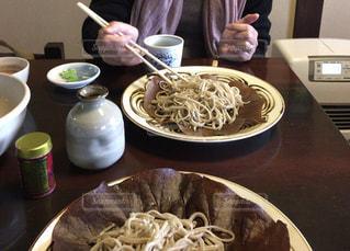 昼食,お蕎麦,田舎家で,彼女と昼を