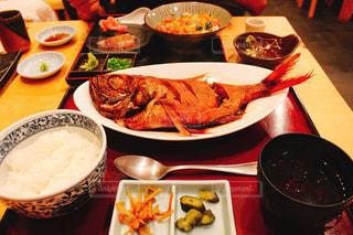 食事,ランチ,魚,ご飯,定食,金目鯛の煮付け,煮付け,白米,お昼ご飯,金目鯛