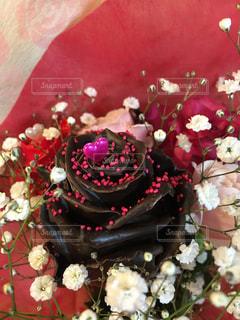 ピンク,花束,バラ,プレゼント,薔薇,チョコレート,バレンタインデー,ラッピング,チョコレートローズ