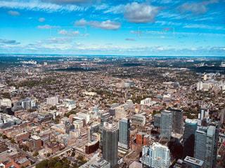 風景,空,ビル,雲,青空,都市,景色,街,観光,旅行,地平線,カナダ,トロント,海外旅行,CNタワー