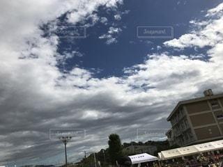 空,雲,晴れ,運動会,日中