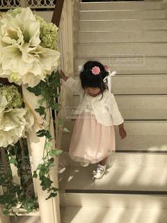花,少女,ドレス,人物,人,幼児,結婚式ドレス