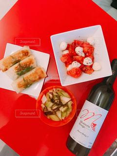 トマト,チーズ,ワイン,ご飯,自炊,手料理,私