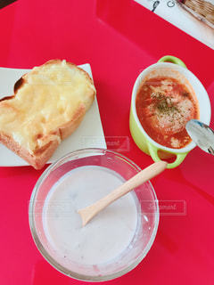 食べ物,トマト,トースト,チーズ,ご飯,朝ごはん,自炊,手料理,アサイー,私,ミネストローネ