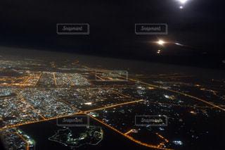 ドバイ上空の写真・画像素材[1681327]