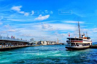 海,空,橋,鳥,屋外,太陽,雲,晴れ,青空,晴天,青,海辺,船,飛ぶ,光,観光,旅行,カモメ,トルコ,イスタンブール,海外旅行,白い雲,日中,海鳥,フォトジェニック,ボスフォラス海峡