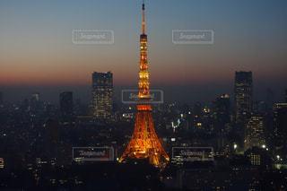 東京タワーの夜景の写真・画像素材[1680218]
