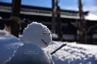 雪だるま日和の写真・画像素材[1660697]