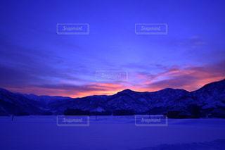 自然,風景,空,冬,雪,夜明け,美しい,朝焼け,新潟県