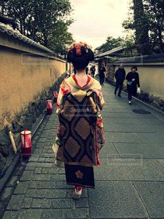 京都,後ろ姿,人物,背中,着物,人,舞妓,だらり帯