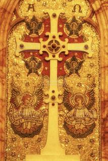 屋内,アート,観光,美しい,十字架,旅行,教会,祈り,装飾,オーストラリア,天使,エンジェル,海外旅行,メルボルン,金,宗教,金色,ゴールド,飾り,クロス,クリスチャン,snowflake