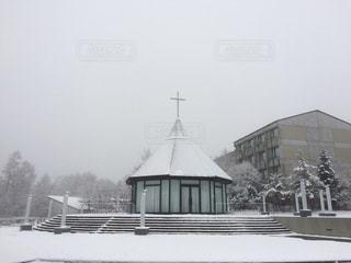 自然,空,雪,眺め