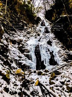 冬,雪,山,氷,滝,樹木,リラックス,氷瀑