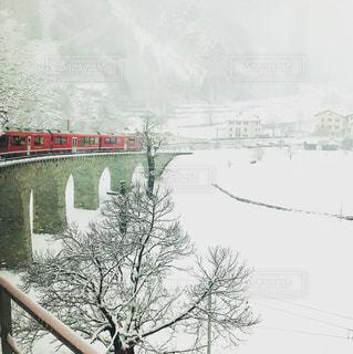 冬,橋,雪,旅行,スイス,鉄道