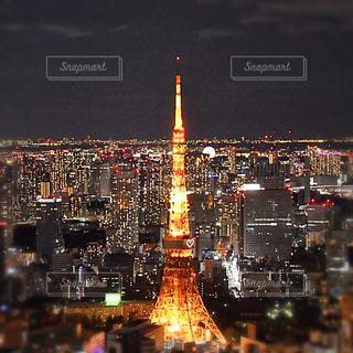 東京タワーの夜景の写真・画像素材[1689272]