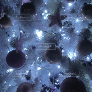 光,クリスマス,ツリー,デコレーション,ホワイト,複数