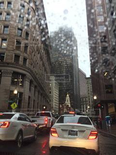 雨,海外,街,旅行,ボストン