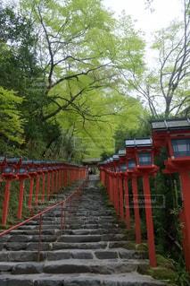 貴船神社にての写真・画像素材[1671977]