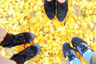 地面に靴のグループの写真・画像素材[1805965]
