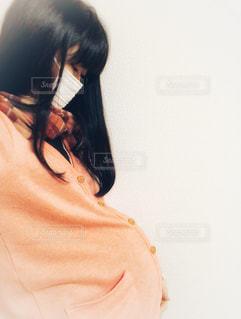 妊婦はマスクで病気予防の写真・画像素材[1672718]