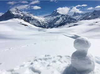 真っ白な景色を独り占めする雪だるま⛄️✨の写真・画像素材[1657477]