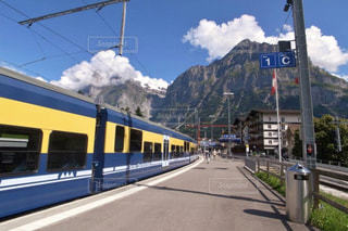 自然,風景,海外,駅,ヨーロッパ,山,景色,観光,旅行,スイス,鉄道,海外旅行,グリンデルワルド,レジャー・趣味