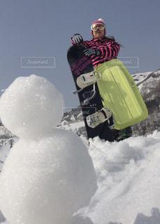 冬,雪,屋外,白,カラフル,綺麗,オシャレ,雪だるま,可愛い,スキー,思い出,スキー場,冷たい,スノーボード,ソリ,日中,私,真冬