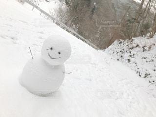 雪だるまちょこんの写真・画像素材[1691796]
