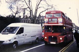 道路,旅行,バス,イギリス,フィルム,車両,フィルム写真,2階建てバス,フィルムフォト