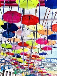 傘のアートの写真・画像素材[3690170]