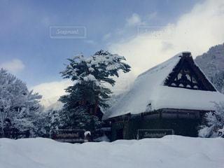 雪,青空,旅行,古民家,白川郷,真冬