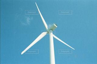 空,屋外,白,雲,青,風車,ホワイト,景観,日中,フィルム写真